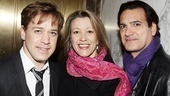 T.R. Knight gathers close with Linda Emond and Matte Osian.