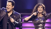 Donny Osmond and Marie Osmond in Donny & Marie: A Broadway Christmas.