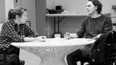Other Desert Cities Rehearsal – Elizabeth Marvel – Thomas Sadoski (table)