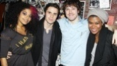 Rebecca Naomi Jones, John Gallagher Jr. and Christina Sajous welcome Kris Allen to the American Idiot family.