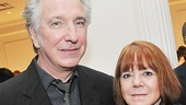 Stage and screen great Alan Rickman makes the scene with his significant other, Rima Horton.