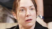 Elizabeth Marvel as Brooke Wyeth and Thomas Sadoski as Trip Wyeth in Other Desert Cities.