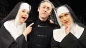 Alan Cumming finds himself in a heavenly sandwich with The Divine Sister stars Julie Halston and Charles Busch.