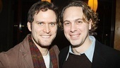 Steven Pasquale smiles alongside his former Reasons to be Pretty co-star Thomas Sadoski.