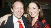 Elizabeth Marvel receives a warm congratulations from husband Bill Camp.