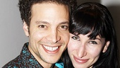 Onstage sweethearts Justin Guarini and Nikka Graff Lanzarone get cheek to cheek.