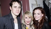 Joan Rivers Spider-man -  Reeve Carney  Joan Rivers  Jennifer Daminao