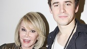 It's Joan Rivers! The comedian cozies up to Broadway cutie Reeve Carney.