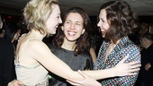 Sisters, sisters there were never such devoted sisters! Stars Juliet Rylance, Jessica Hecht and Maggie Gyllenhaal come together for a group hug.