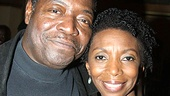 Chuck Cooper poses with his onstage wife, Sharon Washington (recently seen in The Scottsboro Boys).