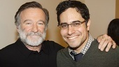 Robin Williams credits playwright Rajiv Joseph as the reason for coming to Broadway.