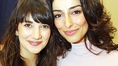 The lovely ladies of Bengal Tiger, Sheila Vand and Necar Zadegan, smile for our camera.