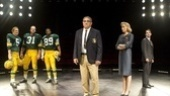 Dan Lauria as Vince Lombardi, Judith Light as Marie Lombardi, Keith Nobbs as Michael McCormick in Lombardi.