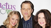 Maxwell Caulfield celebrates opening night of Cactus Flower with his lovely co-stars Jenni Barber and Lois Robbins.