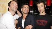Stamos sandwich! The trio hams it up.