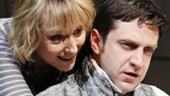 Lia Williams as Hannah Jarvis and Raul Esparza as Valentine Coverly in Arcadia.