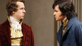 David Turner as Ezra Chater and Tom Riley as Septimus Hodge in Arcadia.