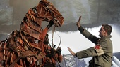 Peter Hermann as Friedrich Muller and Elliot Villar in War Horse.