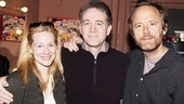 Clifford Bradshaw alert! Laura Linney poses with two vets of Broadways Cabaret, Driving Miss Daisy star Boyd Gaines and John Benjamin Hickey. Daisy drives away for good on April 9, so get tickets now for this hit revival.