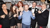 Chicago producer Barry Weissler joins the stars to make a toast.