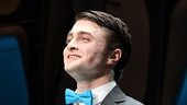 Daniel Radcliffe has a good reason to smile: He's just made his Broadway musical debut in How to Succeed.