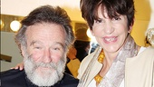 Mercedes Ruehl, who scored an Oscar win starring opposite Robin Williams in The Fisher King, pays Williams a congratulatory visit backstage after the show.