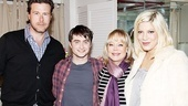 It's a family affair at How to Succeed for reality star Dean McDermott, Daniel Radcliffe, show producer Candy Spelling and Dean's wife and TV co-star Tori Spelling.