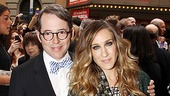 Catch Me If You Can Opening Night  Matthew Broderick  Sarah Jessica Parker  James Wilkie Broderick