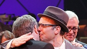 Norbert Leo Butz plants a kiss on composer Marc Shaiman.