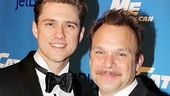 Catch Me If You Can Opening Night  Aaron Tveit  Norbert Leo Butz (party entrance)