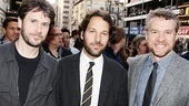 Josh Hamilton, Paul Rudd and Tate Donovan walk the red carpet together. (Nice beards, guys!)