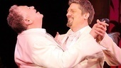 Christopher Sieber takes Harvey Fierstein for an anniversary twirl courtesy of that &quot;Song on the Sand.&quot;