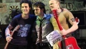 American Idiot's main trio Justin Guarini, Van Hughes and David Larsen come together for a group hug.