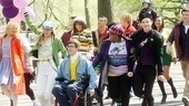 Glee Central park - cast