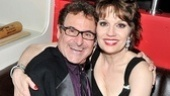 Onstage, he's Florence Greenberg's hectoring husband, but on opening night, Barry Pearl gets a hug from co-star Beth Leavel.