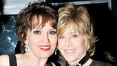 Beth Leavel gets a congratulatory hug from Jane Fonda.