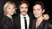 Acting power couple Juliet Rylance and Christian Camargo sandwich Lee Pace for an opening night pic.