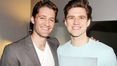 They both played Hairspray's Link, and Matthew Morrison starred in a developmental workshop of Catch Me If You Can. Now the Glee star is happy to congratulate Aaron Tveit on the show's Broadway bow.