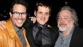 IHO star Michael Esper is surrounded by his American Idiot director, Michael Mayer, and producer Tom Hulce.