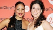 Lookin' good ladies! Sanaa Lathan and Stephanie J. Block have just journeyed 70 years together on stage, but they're fresh and fabulous for our camera.