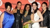 The lovely ladies of Vera Stark: Kimberly Hebert Gregory, Sanaa Lathan, playwright Lynn Nottage, Stephanie J. Block and Karen Olivo.