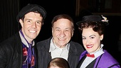 Mary Poppins's Gavin Lee and Ashley Brown (joined by their young co-stars Rozi Baker and Anthony Scarpone-Lambert) are also thrilled to welcome the musical's composer Richard Sherman backstage.