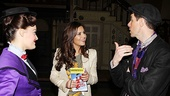 Cheryl Cole chats up Mary Poppins stars Ashley Brown and Gavin Lee.