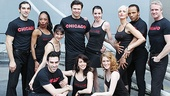 The cast of Chicago (Peter Nelson, Sharon Moore, Jennifer Dunne, Brent Barrett, Melissa Rae Mahon, Amra-Faye Wright, James Harkness, Brian O&#39;Brien, Brian Spitulnik, Donna Marie Asbury and Dylis Croman) is honored to perform for the visiting sailors. 