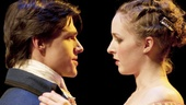 Finn Wittrock as Clindor and Amanda Quaid as Isabelle in The Illusion.