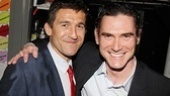 Jonathan Cake and Billy Crudup pal around backstage.
