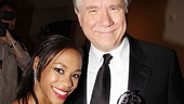 Winners Nikki M. James and John Larroquette represent the short and tall of Tony night.
