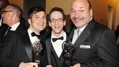 2011 Tony Awards Winners Circle  Stephen Oremus  Larry Hochman  Casey Nicholaw