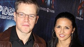 Spider-Man opening  Matt Damon  Luciana wife