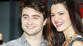 Daniel Radcliffe and Rose Hemingway respond to the cheering crowd.